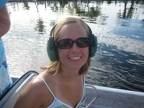 Becky On The Airboat (Sweet Ear Muffs!)