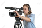 32869249-young-woman-with-a-video-camera-and-headphone-Stock-Photo