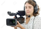 66247704-pretty-young-girl-with-a-professional-camcorder-on-white-Stock-Photo