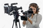 67099167-pretty-young-girl-with-a-professional-camcorder-on-white-Stock-Photo