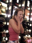 Britney Phones Laughing